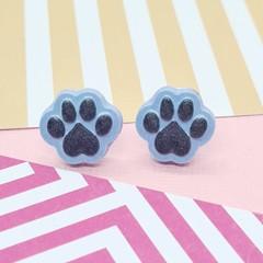 Paw Print Dog Cat Resin Earrings Jewellery