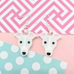 Greyhound Dog Resin Earrings Jewellery