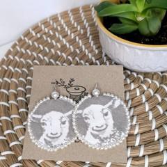 Lamb Fabric Earrings