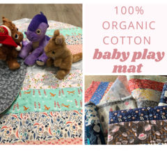 Organic cotton Baby Mat with 2 layers of cotton wadding for softness