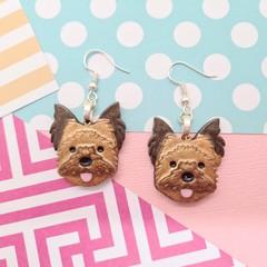 Yorkie / Yorkshire Terrier / Silky Terrier / Australian Terrier Dog Resin Earrin
