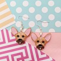Chihuahua Dog Resin Earrings Jewellery