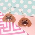 Cavoodle Dog Resin Earrings Jewellery