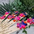Zesty Flower Power Glitter Resin Button Stud Earrings
