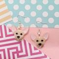 Chihuahua Dog Resin Earrings Jewellery