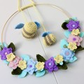 Flower and Bee Wreath
