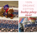Organic cotton Reversible Baby Play Mat / Tummy Time Mat