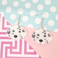 Dalmatian Dog Resin Earrings Jewellery