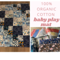 Blue baby play mat/quilt / tummy time mat
