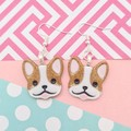 French Bulldog frenchie Boston terrier dog Resin Earrings Jewellery