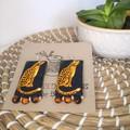 Leopard Fabric Earrings