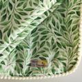 Handmade Soft Baby Blanket, 2 Pack of Bibs & Teether Gift Set in Greenery