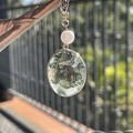 Moss Agate crystal pendant