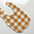 Golden gingham  bib