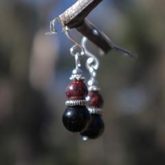 Garnet Eve Earrings