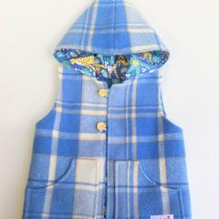 Leopard Upcycled Blanket Vest