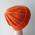 Orange Hat for Older Child, Teenager or Petite Size Adult - Ready To Ship