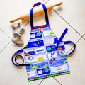 Kids/Toddlers Apron Spaceships - boys lined kitchen/play apron