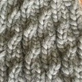 """Grey """"Ethereal""""  100% pure wool beanie with traditional pom pom"""