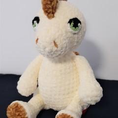 lovely, soft velvet crocheted dinosaur