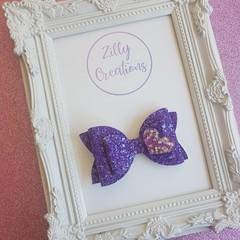 Sparkly Purple Hair Bow