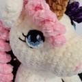 adorable hand crocheted velvet unicorn