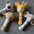 Handmade Crochet Rattles for Kids, Soft Toys, Kids Animal Soft Toys, Amigurumi