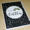 Motorbike Happy Birthday card
