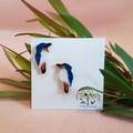 Kookaburra Stud Glitter Earrings - Native Birds
