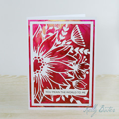 You mean the World to Me, Friendship Card, Anniversary Card