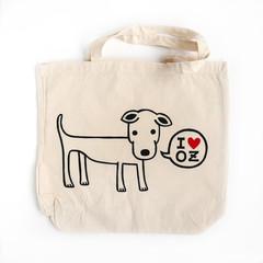 Shopping Tote Bag - I Love OZ Doggy