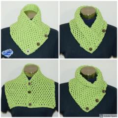 Bubble pistachio Crochet cowl / Neck warmer - FREE SHIPPING