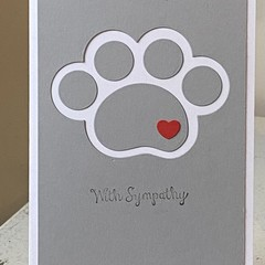 Pet bereavement  Sympathy Card - free post