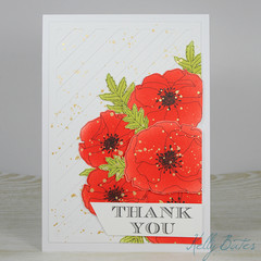 Thank You Card, Poppies