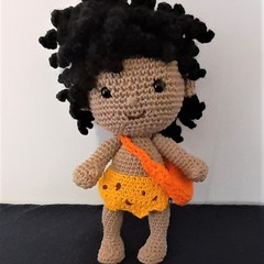 Dave the caveboy, crocheted doll