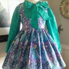 Frozen busy bow dress size 4