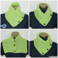 Bubble pistachio Crochet cowl / Neck warmer - FREE SHIPPING