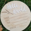 Birth Announcement Plaque - Pine and Acrylic