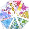 Vintage Retro 'Rainbow Floral' Flag Bunting.