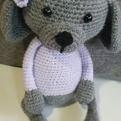 """Coco"" Handmade Crochet Puppy Lady Softie"