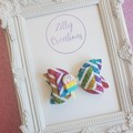 Rainbow hair bow with Ice-Cream Embellishment