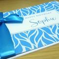 Happy Birthday card - blue swirls