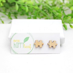 Puzzle piece earrings - anniversary gift - puzzle studs - cute studs - anniversa