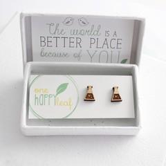 Science stud earrings - science themed jewellery - chemistry gift