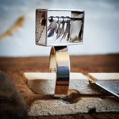Clothesline ring Sterling silver