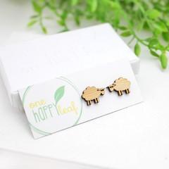 Sheep earrings - gift for knitter - sheep gift - sheep jewellery - sheep jewelry