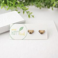 Koala stud earrings - Australian animal studs, cute earrings, Australiana gift