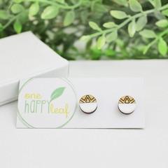 Sun earrings - eco jewellery - earrings - everyday studs