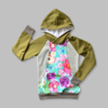 Boobicino Hoodie - Olive Floral