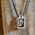 Clothesline necklace Sterling silver